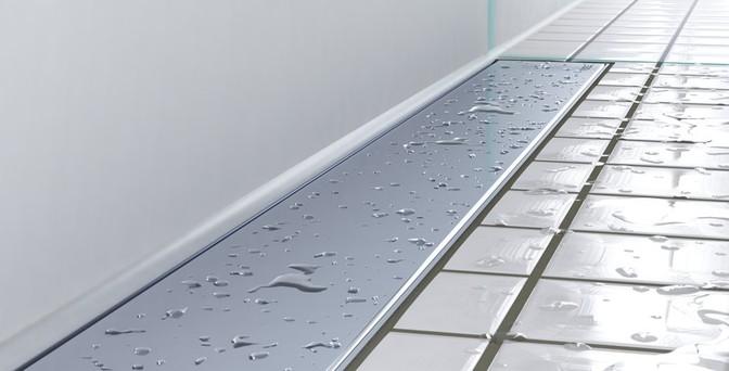 Bilde av sluk med vanndråper